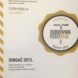 Dingač Skaramuča-zlatna medalja
